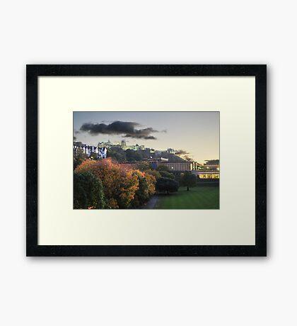 Dusk in Edinburgh Framed Print