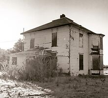 Abandoned Farmhouse Kissed by Sunshine by JULIENICOLEWEBB
