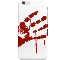 Bloody Hand print iPhone Case/Skin