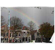 Rainbow Over Zierikzee  Poster