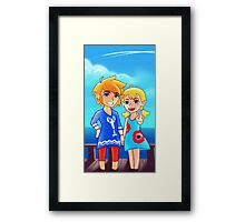 Wind Waker: Link and Aryll! Framed Print