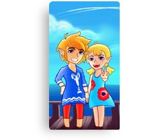 Wind Waker: Link and Aryll! Canvas Print