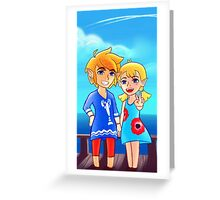 Wind Waker: Link and Aryll! Greeting Card