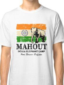 India Elephant Flag - Vintage Look Classic T-Shirt