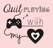 BSB - Quit playing games with my heart... Kids Clothes