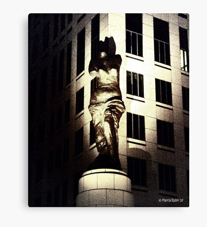 Watching over Cleveland Canvas Print