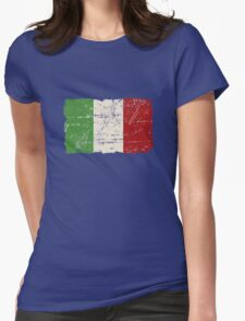 Italy Flag - Vintage Look Womens Fitted T-Shirt