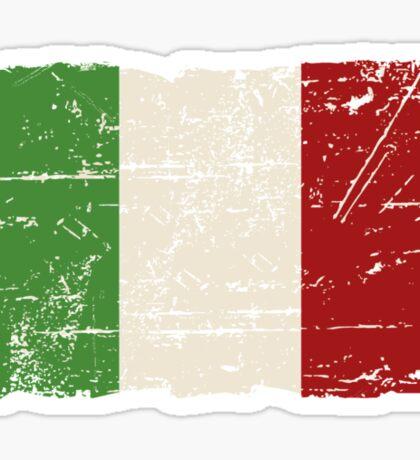 Italy Flag - Vintage Look Sticker