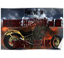 Biker group Banner Challenge. Poster
