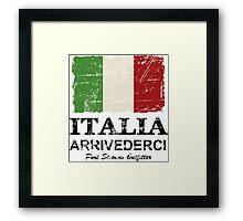 Italy Flag - Vintage Look Framed Print