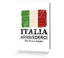 Italy Flag - Vintage Look Greeting Card