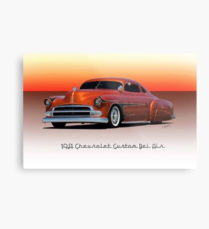 1951 Chevrolet 'Kustom' Bel Air II Metal Print