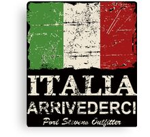 Italy Flag - Vintage Look Canvas Print