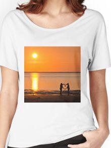 Sunset Heart Women's Relaxed Fit T-Shirt
