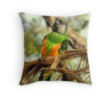 Parrot on Potosi Throw Pillow