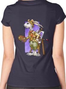 Lucky Rabbit Artist Women's Fitted Scoop T-Shirt