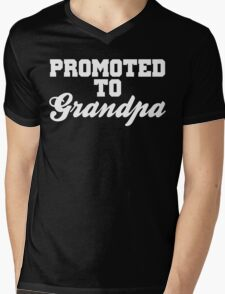 Promoted To Grandpa Mens V-Neck T-Shirt