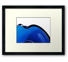 Undulations in Blue Framed Print