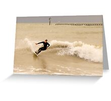 Action Surfer Greeting Card