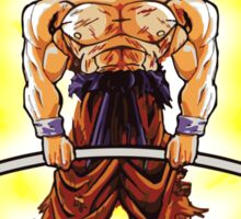 CONQUER - Weightlifting Super Saiyan Goku Sticker