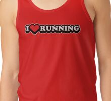 I Love Running Workout Exercise Gym Tank Top
