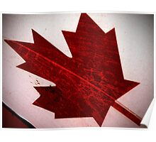 Grunge Canadiana  Poster