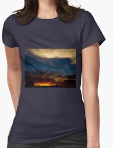 Sunray Sunset Womens Fitted T-Shirt