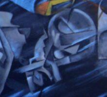 Homage to Umberto Boccione Sticker