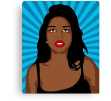 Pop Art Girl Canvas Print