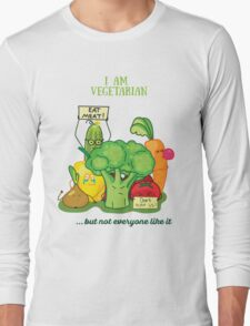 Angry vegetables Long Sleeve T-Shirt