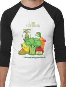 Angry vegetables Men's Baseball ¾ T-Shirt