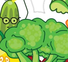 Angry vegetables Sticker