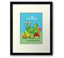 Angry vegetables Framed Print