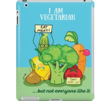 Angry vegetables iPad Case/Skin