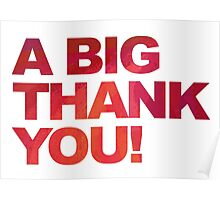 A Big Red Thank You Poster