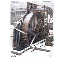 Pump Wheel, Nenthead mines, Cumbria Poster
