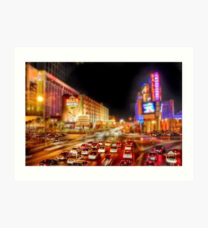Vegas Nights Art Print