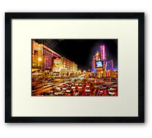 Vegas Nights Framed Print