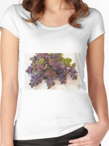 Bugleweed Blossoms  Women's Fitted Scoop T-Shirt