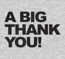 A Big Black Thank You One Piece - Long Sleeve