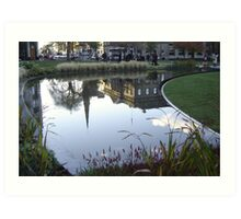 St Andrew's Square Reflected Art Print