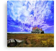 House on a Hill - background Washington State Canvas Print
