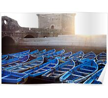 LINED UP- Essaouira, Morocco Poster