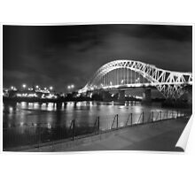 widns runcorn bridge b/w Poster