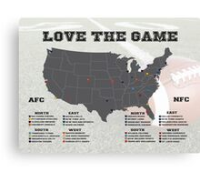 Love the Game (Football) Canvas Print