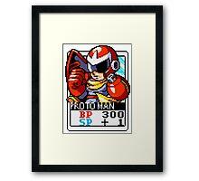 Proto Man Framed Print