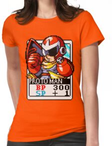 Proto Man Womens Fitted T-Shirt
