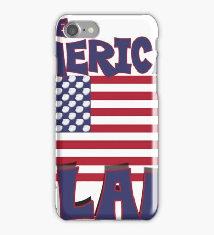 the American clam flag iPhone Case/Skin