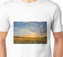 Kansas Sunflowers at Sunset Unisex T-Shirt