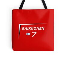 F1 2015 - #7 Raikkonen [v2 Red] Tote Bag